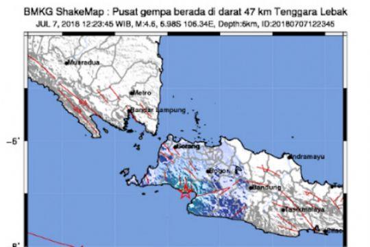 Gempa Lebak terasa hingga Kabupaten Sukabumi
