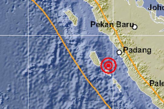 Tiga gempa guncang Mentawai pada Sabtu sore