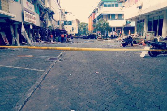 Polisi tak izinkan pegawai masuki ruko lokasi ledakan di Kebayoran