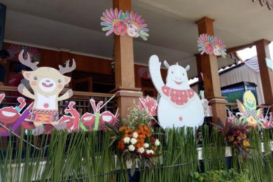 Kampung budaya Setu Babakan dihiasi ornamen Asian Games