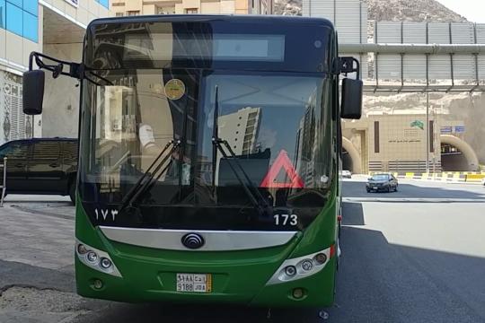 Laporan dari Mekkah - Sejumlah halte bus shalawat berhenti beroperasi