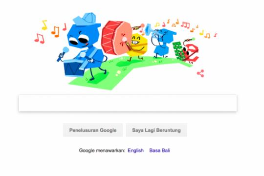 Selamat Hari Anak Nasional di Google Doodle
