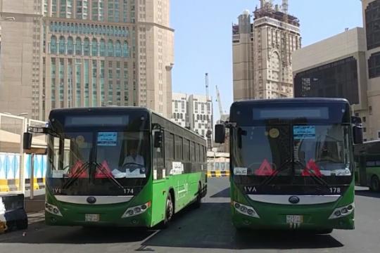 Laporan dari Mekkah - Bus shalawat kembali beroperasi
