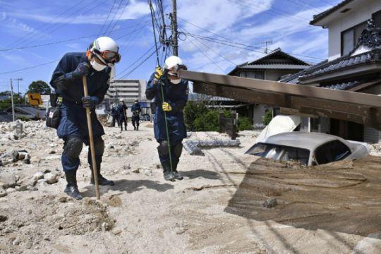 Hujan deras, Jepang keluarkan peringatan risiko tertinggi di Hiroshima