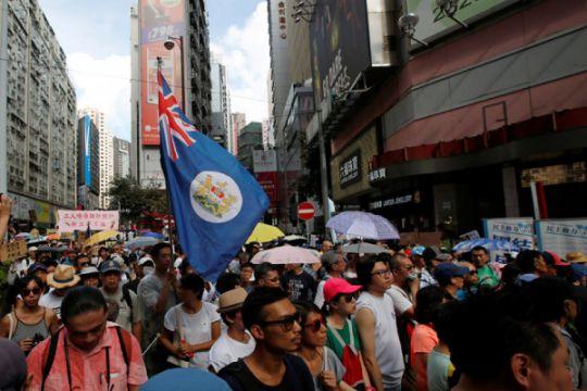 Pedemo Hong Kong desak Inggris untuk tekan China