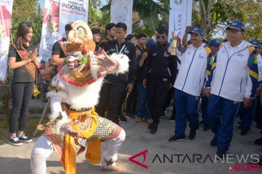 Pawai obor Asian Games 2018 di Denpasar