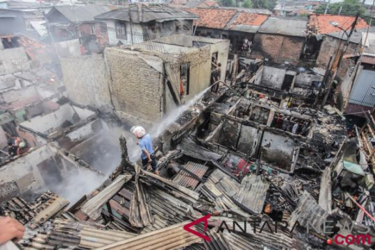 28 rumah penduduk di Menteng hangus terbakar