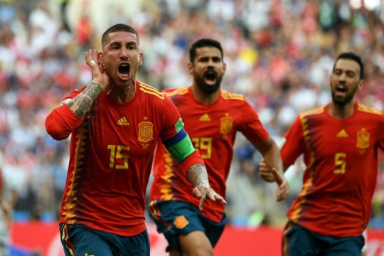 Nations League, Ramos ingin dunia kembali lirik Spanyol