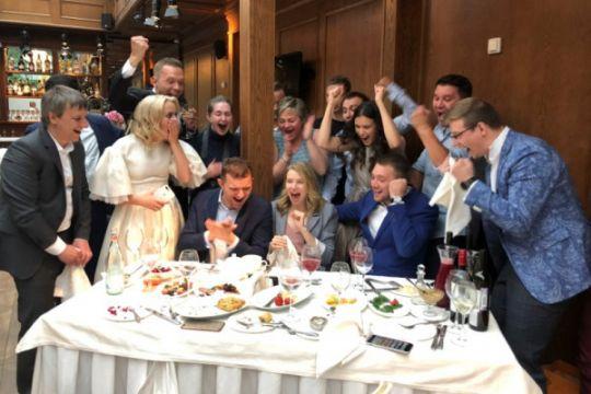 Gol kemenangan jadi kado pasangan pengantin baru asal Rusia