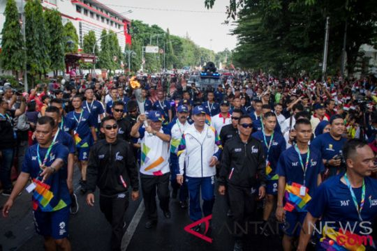 Pawai obor Asian Games 2018 di Solo