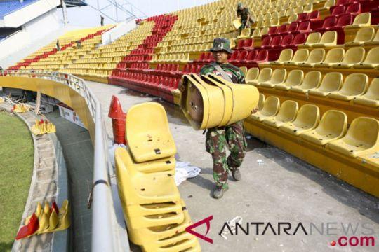 Polisi tahan dua tersangka perusak kursi Stadion GSJ