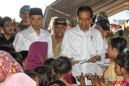 Bantuan perbaikan rumah korban gempa Lombok diberikan pekan ini
