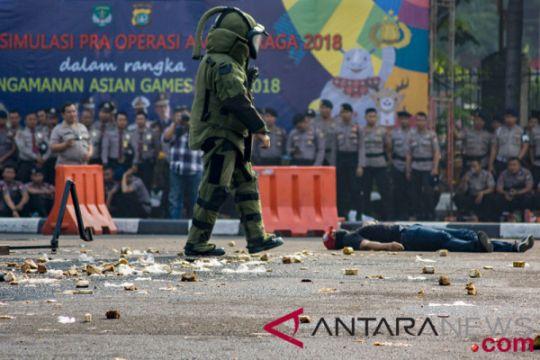 Simulasi pengamanan Asian Games 2018