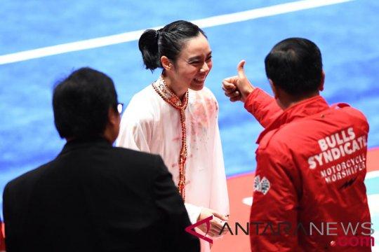 Presiden Jokowi sebut Lindswell Kwok sebagai Ratu Wushu Asia
