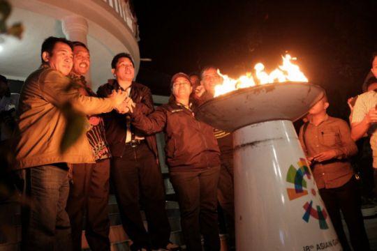 Api Asian Games bermalam di Rumah Pengasingan Bung Karno