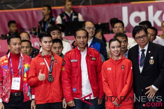 Presiden Jokowi Saksikan Wushu Asian Games