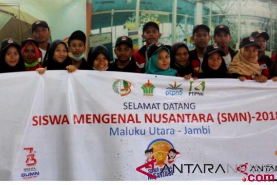BUMN hadir - Peserta SMN Maluku Utara tiba di Jambi