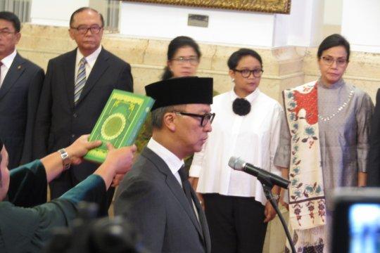 Presiden lantik Agus Gumiwang menjadi menteri sosial
