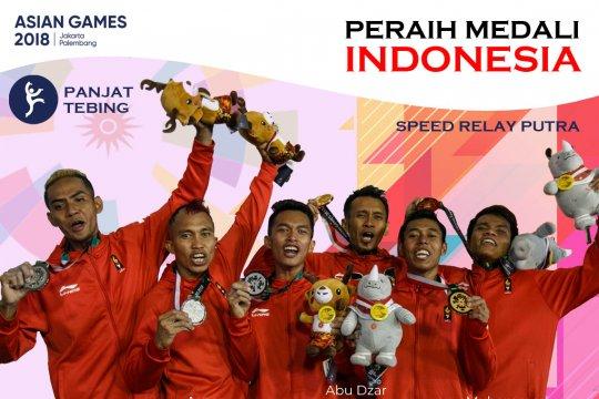 Peraih Medali Indonesia: Tim Panjat Tebing Putra
