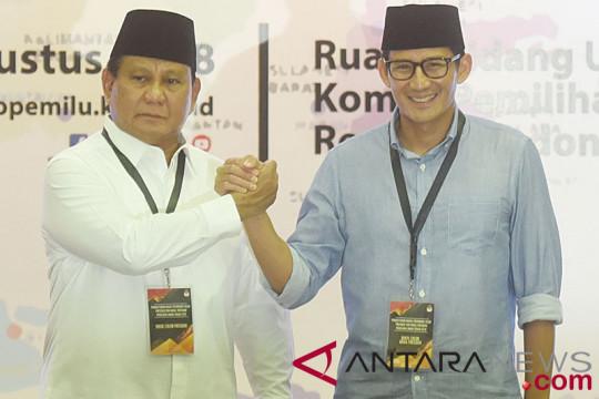 Prabowo-Sandiaga silaturahmi ke kantor PBNU