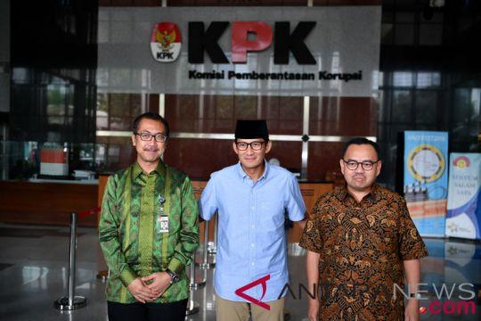 Lapor kekayaan ke KPK, Sandiaga Uno bantah beri mahar