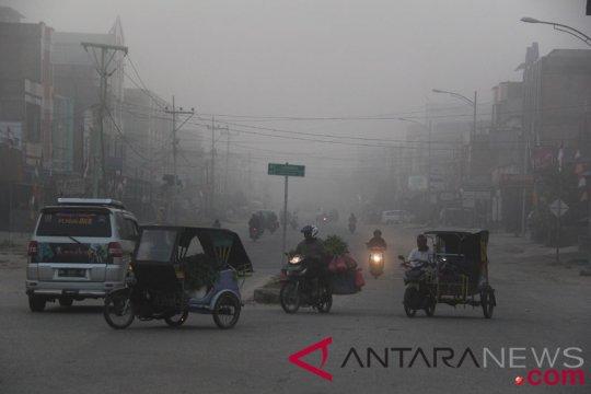 Kabut asap mulai sambangi Kota Dumai