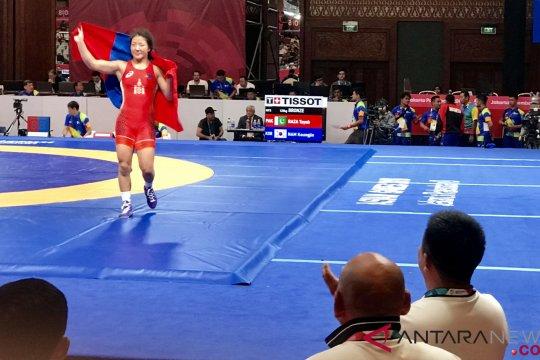 Mongolia raih medali emas kelas 62 kg putri