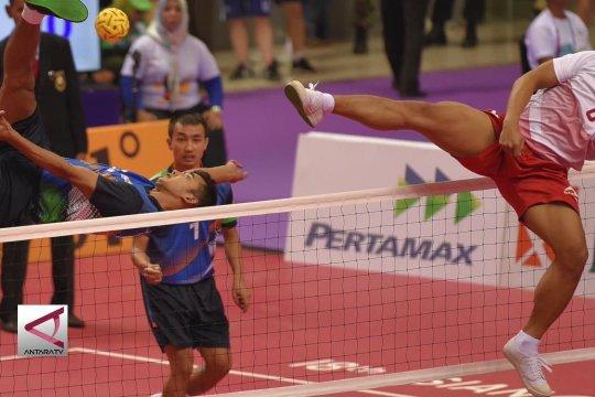 Tim Takraw Beregu Putra Indonesia bertemu Malaysia di semifinal