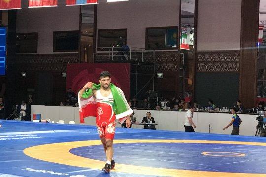 Iran raih emas gulat 97 kg putra
