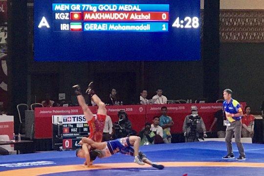 Pegulat Geraei persembahkan emas keempat bagi Iran