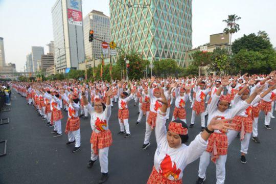 120 warga lapas Bengkalis ikut poco-poco pecahkan rekor