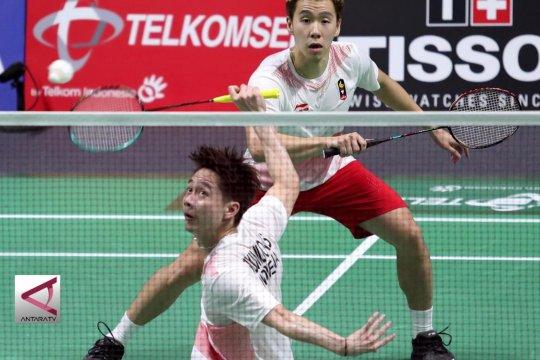Dua Ganda Putra Indonesia menapaki semifinal