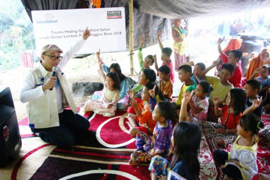 GarudaFood berikan penyembuhan trauma bagi anak Lombok