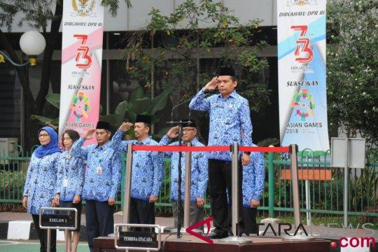 Ma'ruf Cahyono pimpin upacara HUT ke 73 MPR/DPR RI