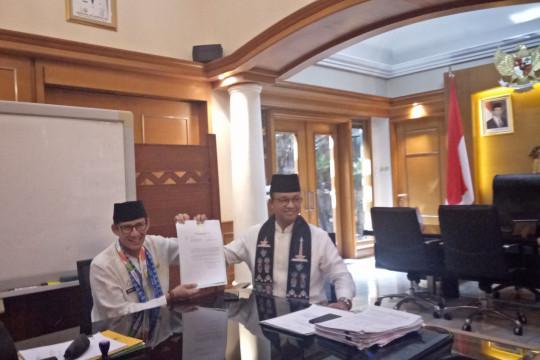 Sandiaga serahkan surat berhenti sebagai Wagub DKI