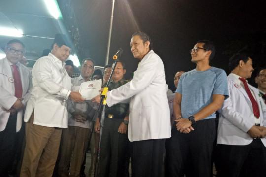 Usai pemeriksaan kesehatan, Prabowo-Sandiaga ke Muhammadiyah