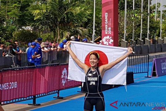 Atlet putri Jepang raih emas triathlon