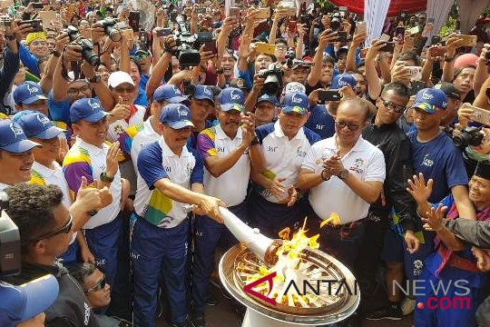 Kaban Diklat Kejaksaan bawa Obor Asian Games