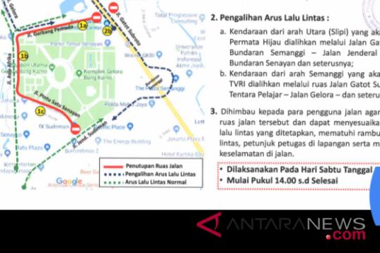 Kirab obor di Jakarta, Dishub siapkan rekayasa lalu lintas