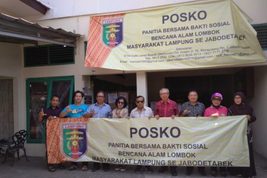 Masyarakat Lampung perantauan bantu korban gempa Lombok