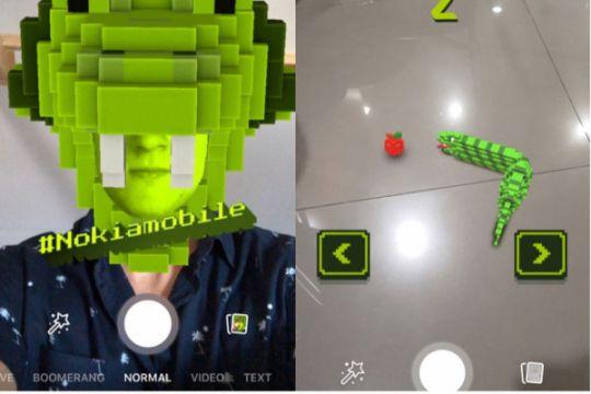"""Game klasik Nokia """"Snake"""" hadir di platform camera AR Facebook, lebih seru!"""