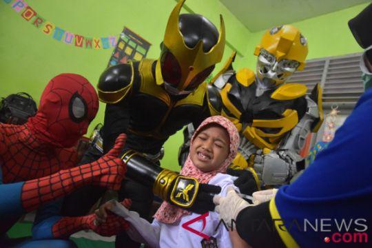 """Riau """"jaring"""" anak-anak yang belum imunisasi MR"""