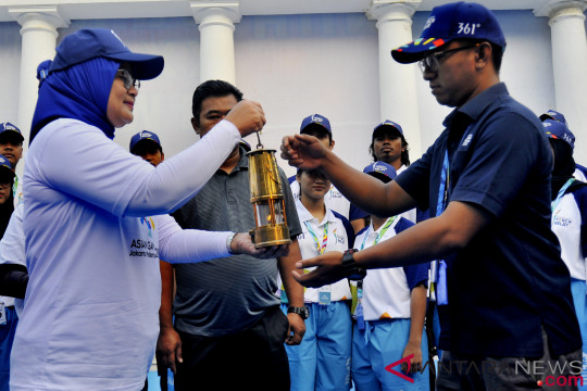 Api Obor Asian Games Tinggalkan Banten