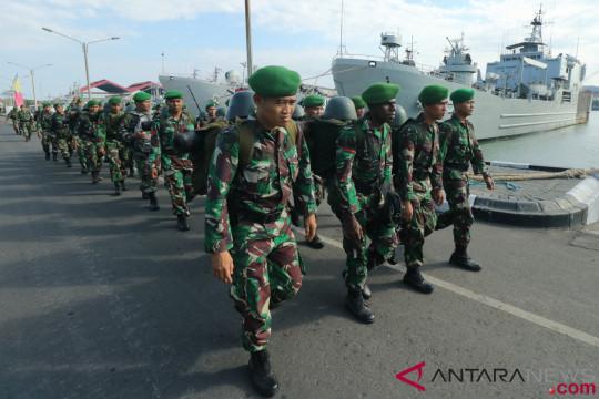 2.670 personel TNI  ditarik dari Lombok