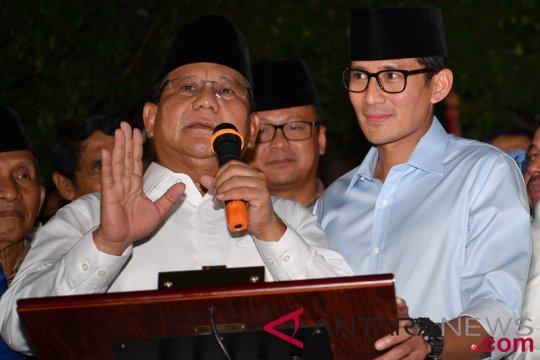 Prabowo-Sandiaga diskusikan kondisi pelemahan rupiah