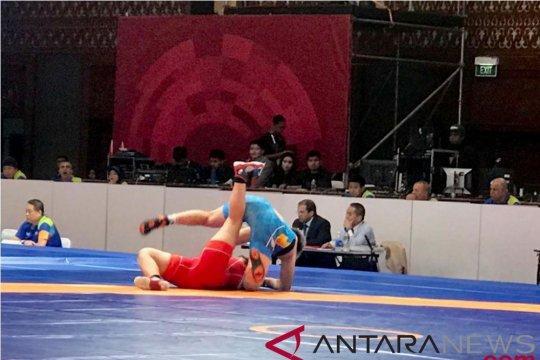 Harapan tim gulat putri Indonesia raih medali pupus