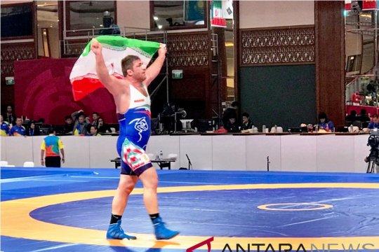 Iran juara umum gulat Asian Games 2018