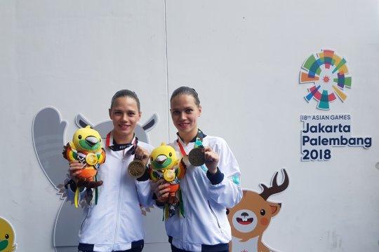 Atlet kembar Kazakhstan penuhi target di renang Indah Asian Games