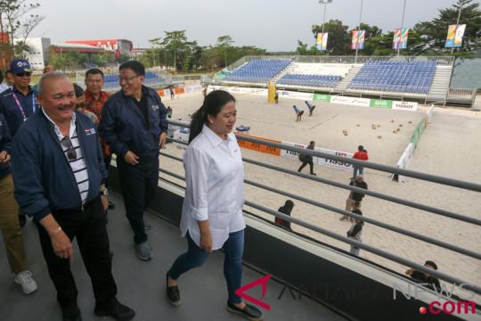 Dua menteri tinjau pelaksanaan pertandingan di Palembang