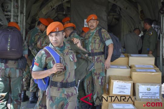76 Paskhas TNI-AU diberangkatkan ke Lombok